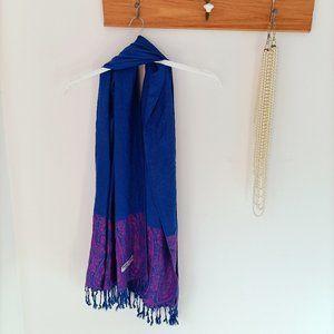 Gorgeous Blue/pink purple 100% Pashmina Scarf Shaw